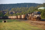 A westbound empty heads back to the mines at Johnstown.